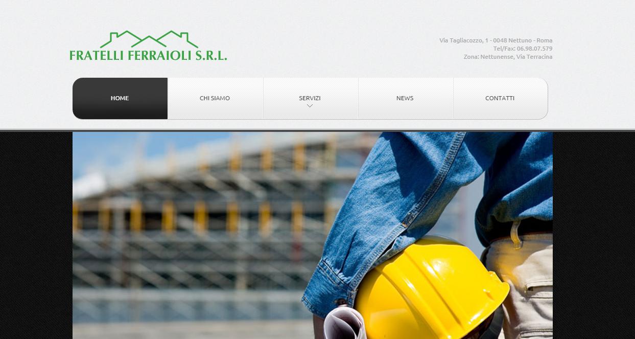 Realizzazione sito web ferraioli costruzioni impresa for Sito web di progettazione edilizia