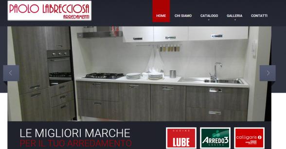 Realizzazione sito web arredamenti labrecciosa viterbo for Di paolo arredamenti outlet