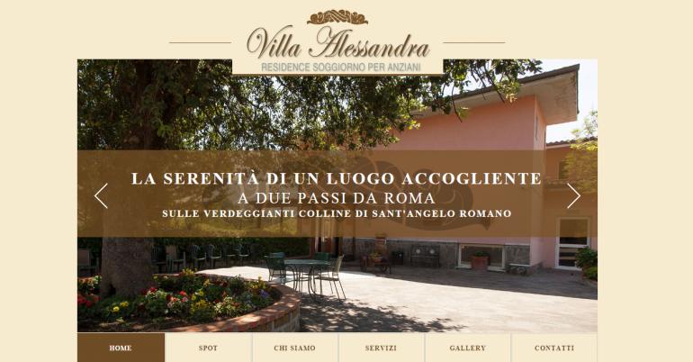 Realizzazione sito web Villa Alessandra - Residence ...