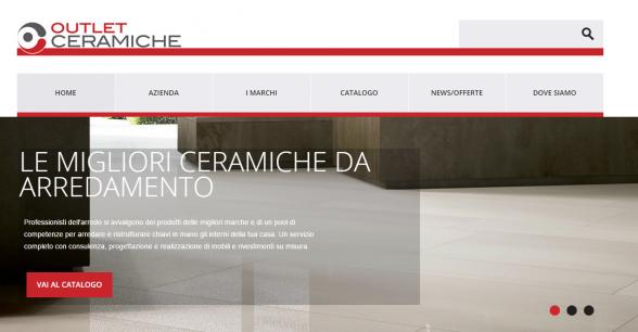Realizzazione Sito web Outlet Ceramiche - Siti web Arredamento ...