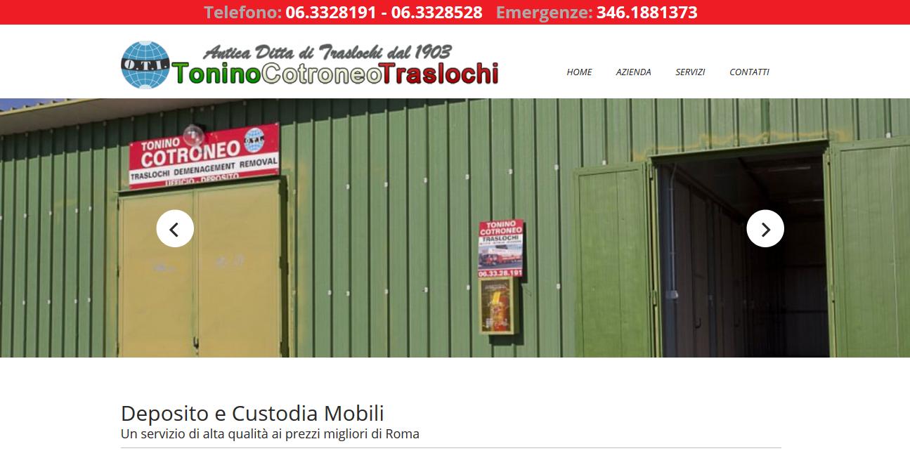 Realizzazione sito web deposito e custodia mobili roma for Siti di mobili online