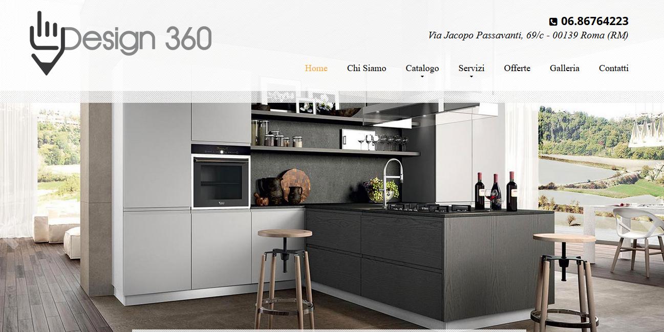 Realizzazione sito web design 360 arredamento e cucine - Siti design arredamento ...