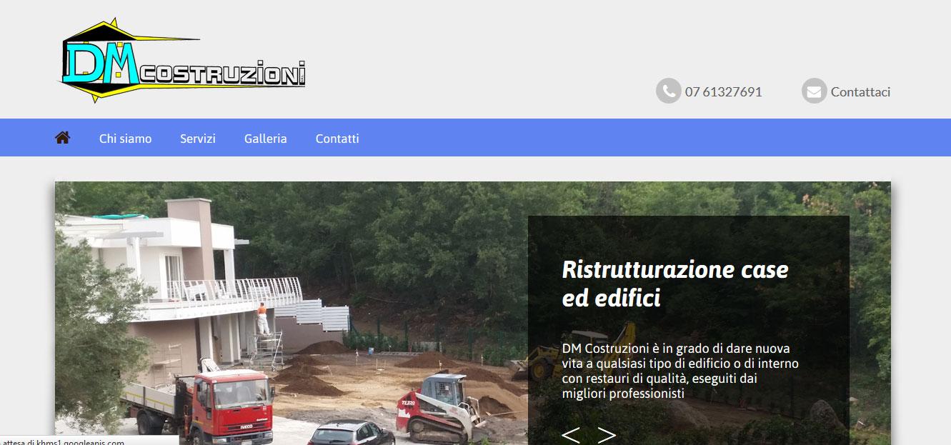 Realizzazione sito web dm costruzioni s r l siti web for Sito web di progettazione edilizia