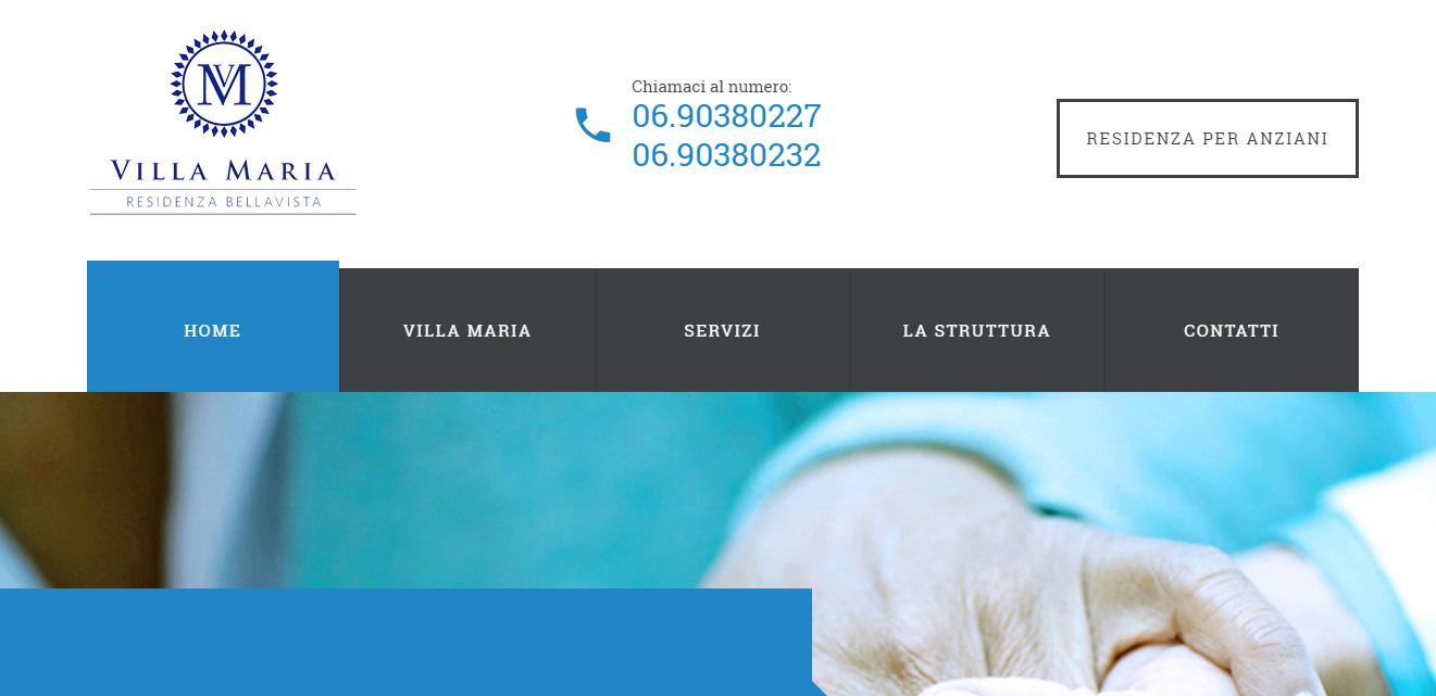 Realizzazione sito web villa maria casa di riposo per for Sito web di progettazione della casa