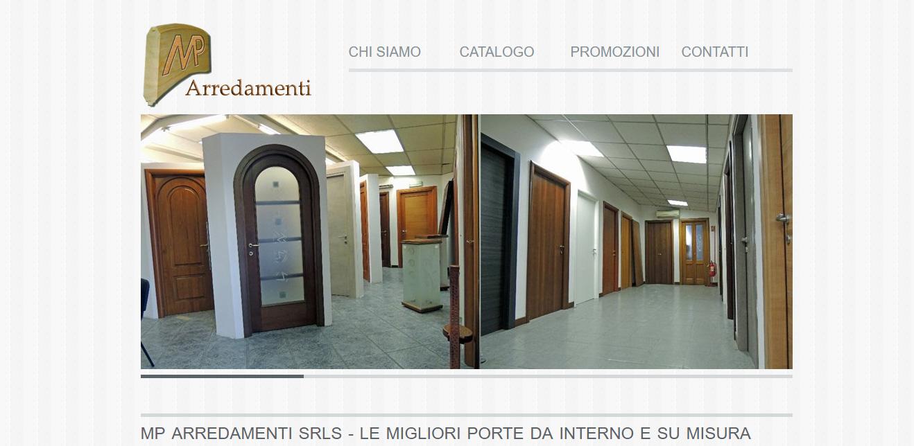 Realizzazione sito web mp arredamenti fabbrica porte e for Siti di arredamenti