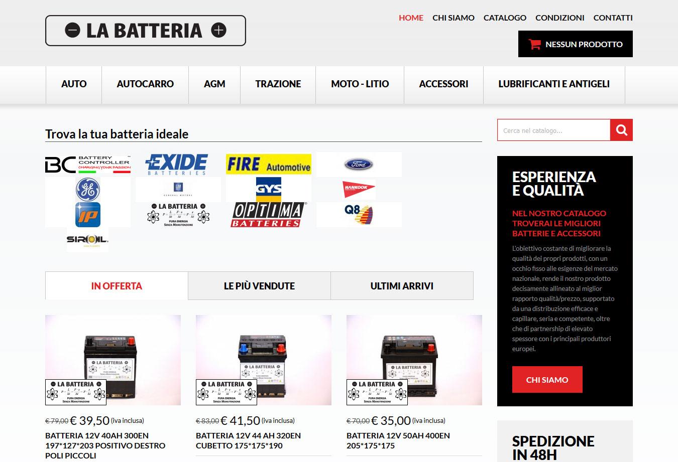 La Batteria -  p Ecommerce per la  strong vendita online di batterie 3b96397876a