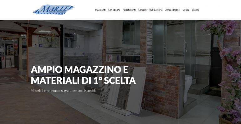 Negozi Di Rubinetteria Roma.Realizzazione Sito Web Marle Ceramiche Pavimenti E