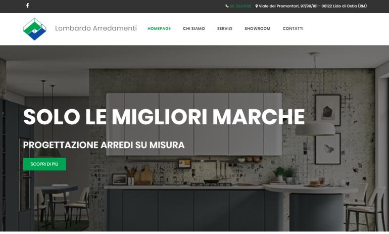 Realizzazione sito web lombardo arredamento ultimi for Arredamenti ostia