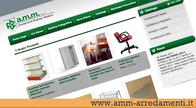 Realizzazione sito web amm arredamenti siti web for Amm arredamenti