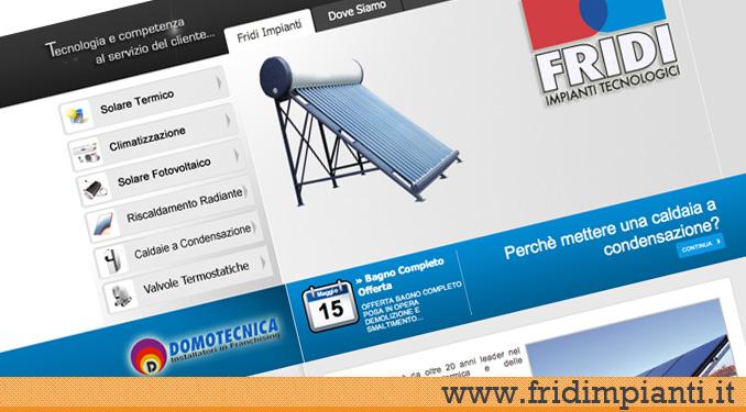 Realizzazione sito web fridi impianti siti web edilizia for Sito web di progettazione edilizia