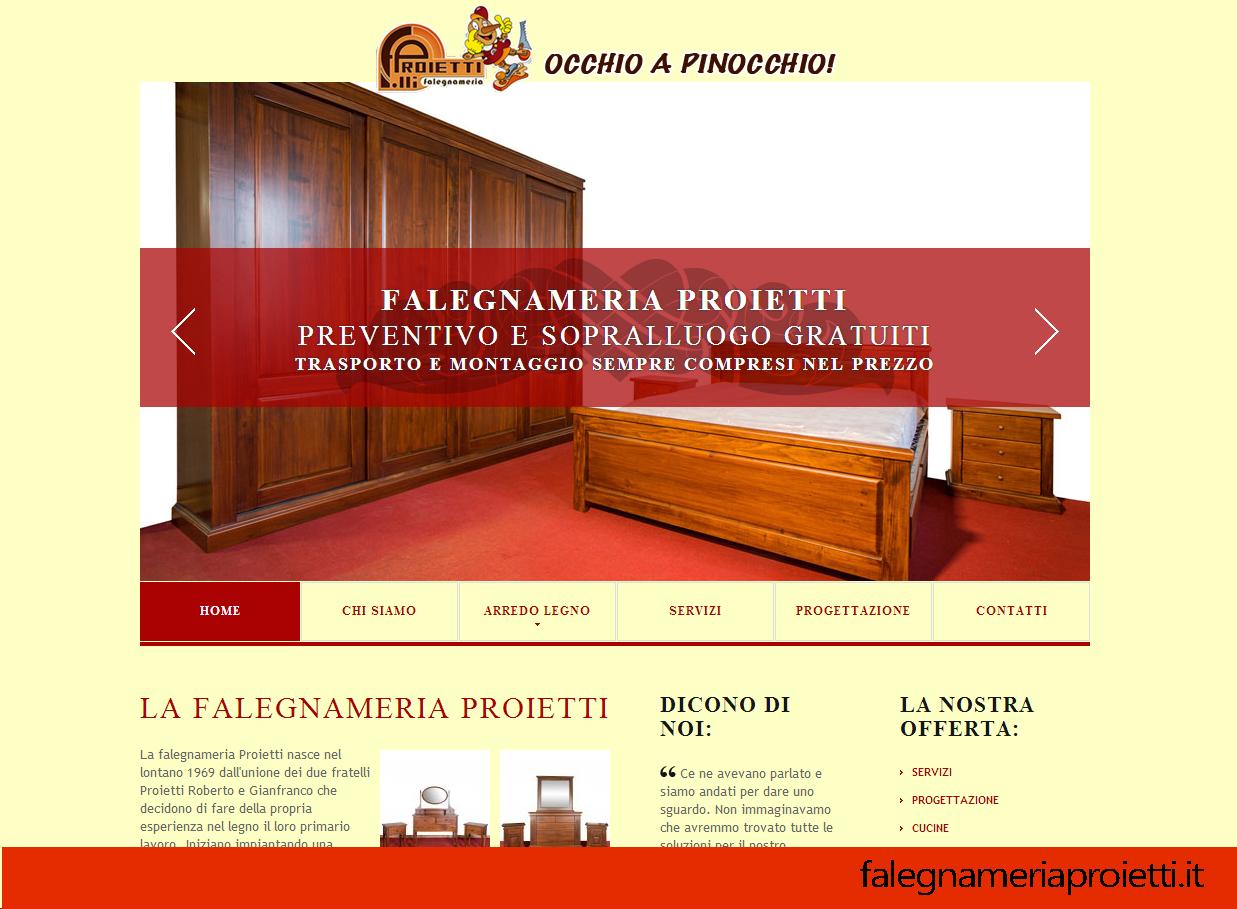 Falegnameria proietti arredamento su misura roma for Web arredamento